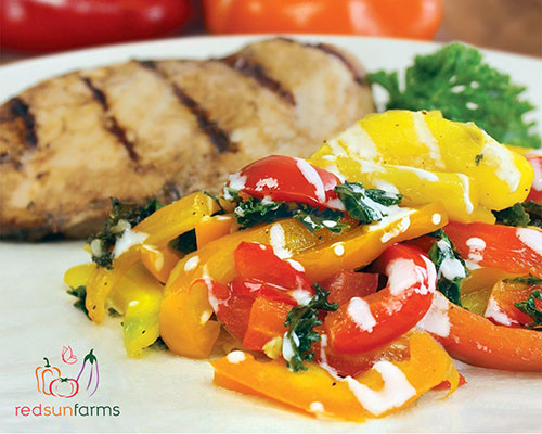 Mother's Day Dish: Grilled Chicken & Roasted Pepper Slaw