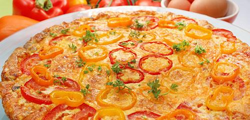 Tomato, Pepper and Egg Frittata