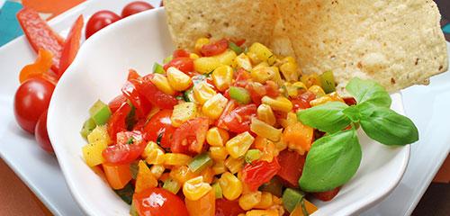 Pepper, Tomato & Grilled Corn Salsa