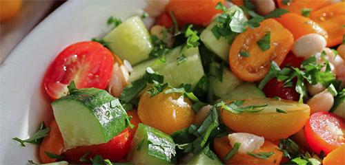 Crisp Cucumber & Tomato Salad