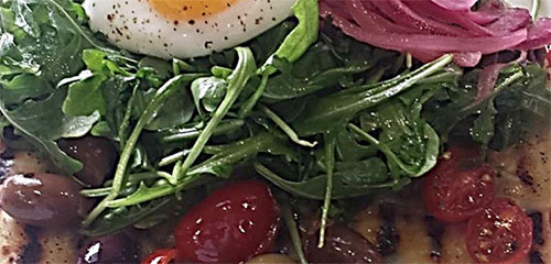 Grilled Herbed Flatbread with Arugula Salad